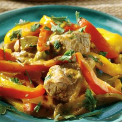 Chicken With Yoghurt And Peppers