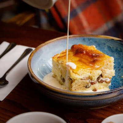 Bread & Butter Pudding With Custard