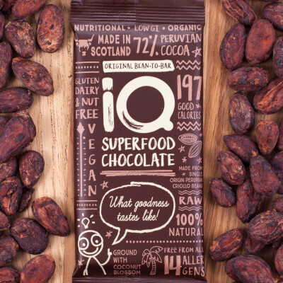 I Q Superfood Chocolate Original Bean To Bar 72