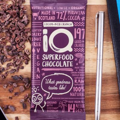 I Q Chocolate Cocoa Nib Crunch