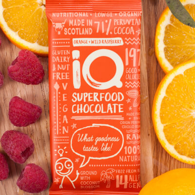 I Q Chocolate Orange Wild Raspberry