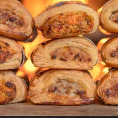 Mediterranean Roasted Vegetable And Feta Pastry
