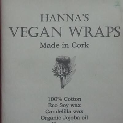 Hanna's Vegan Wax Wraps - Midi  25X25cm Moustache Bl