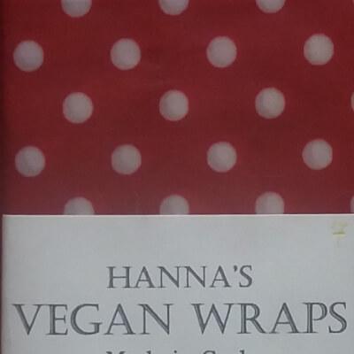 Hanna's Vegan Wax Wrap -Midi Red Polkadot