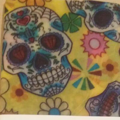 Hannah's Vegan Wax Wrap- Maxi Mexican Skull