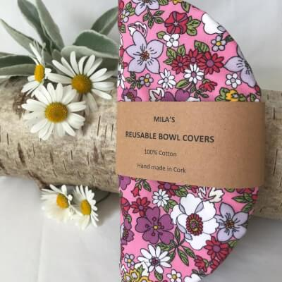 Mila's Reusable Bowl Covers Floral Pk