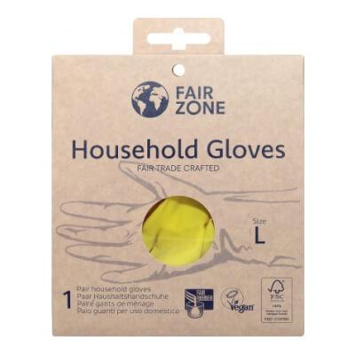 Washup Gloves, Fairtrade, Nat. Latex, Large