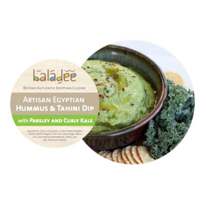 Parsley And Curly Kale Super Hummus