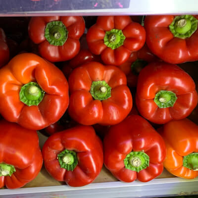 Organic Red Bell Pepper From Spain