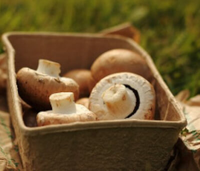 Organic Button Mushrooms - 300G