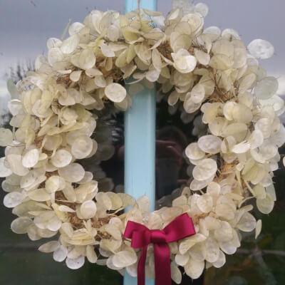 Dried Honesty Christmas Wreath