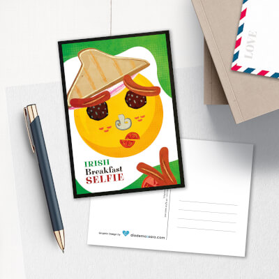 Postcard Irish Breakfast Selfie