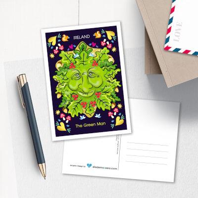 Postcard The Green Man