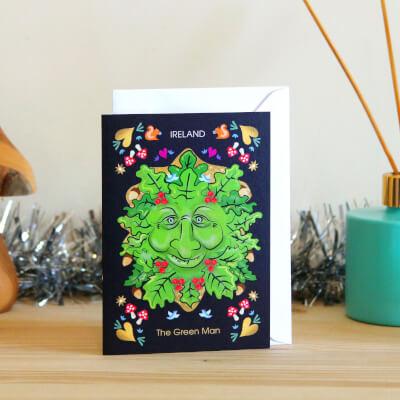 Card The Irish Green Man