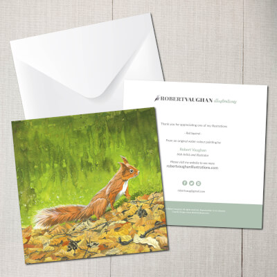 Card Red Squirrel