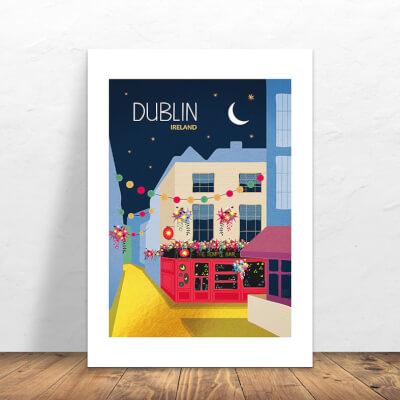 Print Dublin Temple Bar
