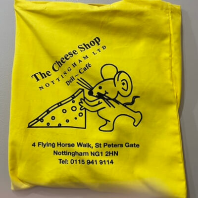 Cheese   Shop Nottingham Tote Bag