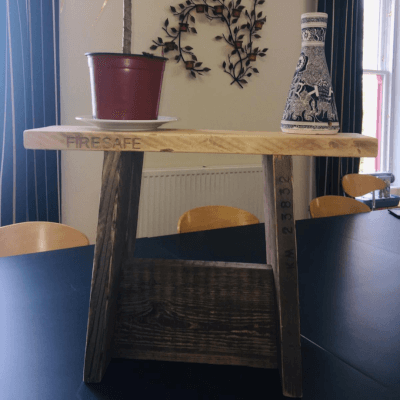 Reclaimed Wooden Side Table/Stool