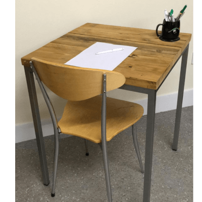 Reclaimed Wooden And Metal Desk