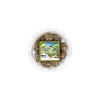 Organic Green Olives With Garlic
