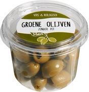 Organic Green Stoneless Olives