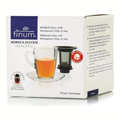 Horeca Tea Glass Cup & Saucer