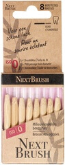 Bamboo Floss Brushes X8 (Size: 0)