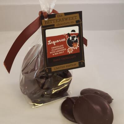 Liquorice Thingymejigs In Dark Chocolate